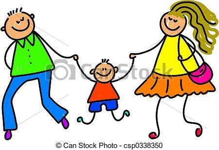 My Parents - Little Tot With His Parents-my parents - little tot with his parents - toddler art... ...-5