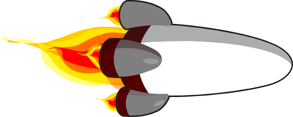 My rocketship edit realistic white clip art at