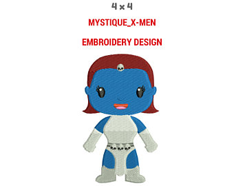 Mystique X-Men Embroidery Design | Machine Embroidery Design | X-Men Full  Filled