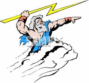 Mythology Clipart Zeus Aiming A Bolt Lightning 100413 154053 766009