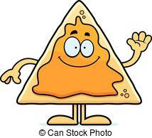Nacho Smiling Clip Artby Cthoman9/2,229;-Nacho Smiling Clip Artby cthoman9/2,229; Cartoon Nachos Waving - A cartoon illustration of a nacho.-9