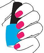 Nail manicure salon sign u0026middot; Nails with a nail polish in hand
