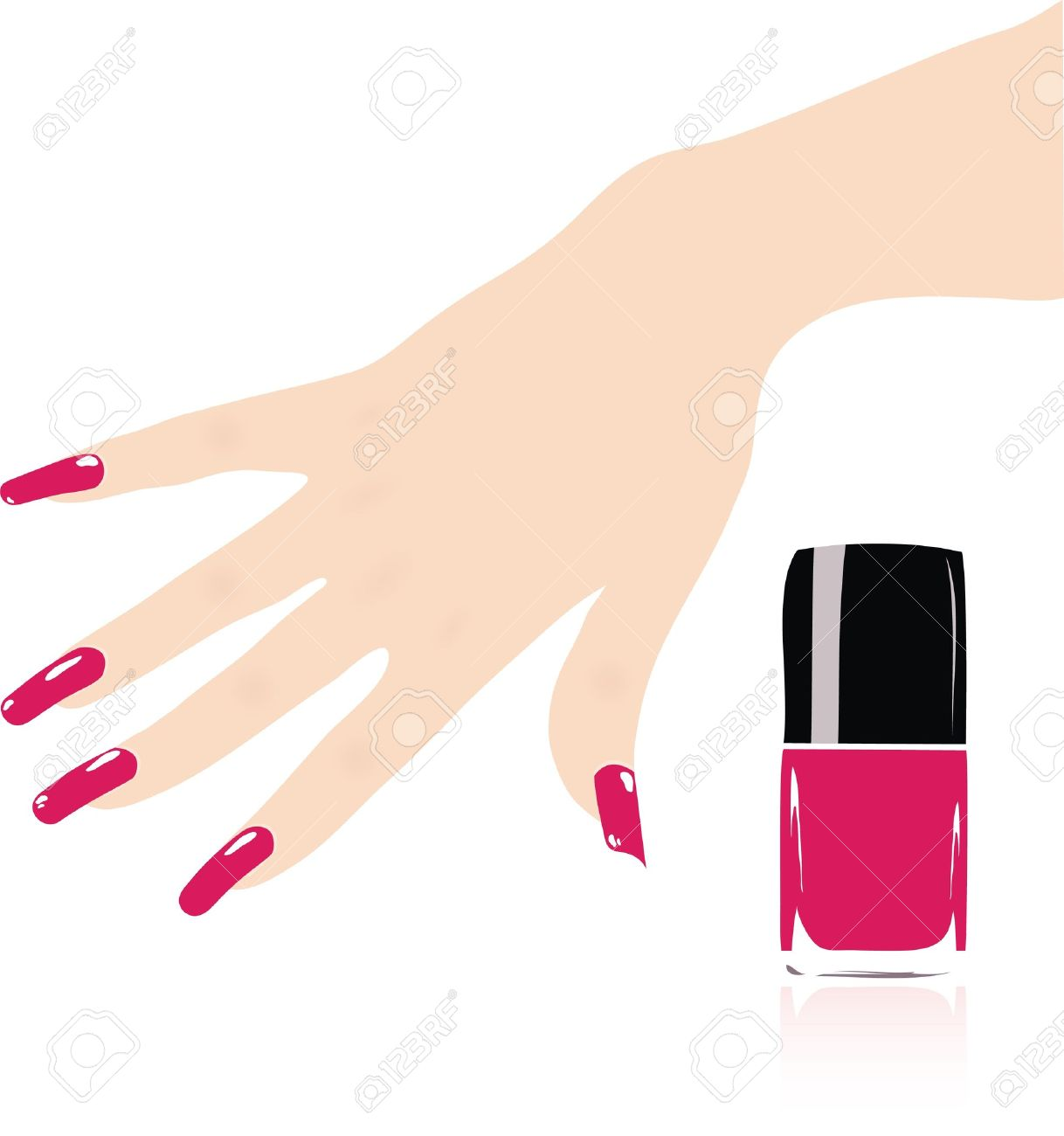 Nail Salon Woman Hand With