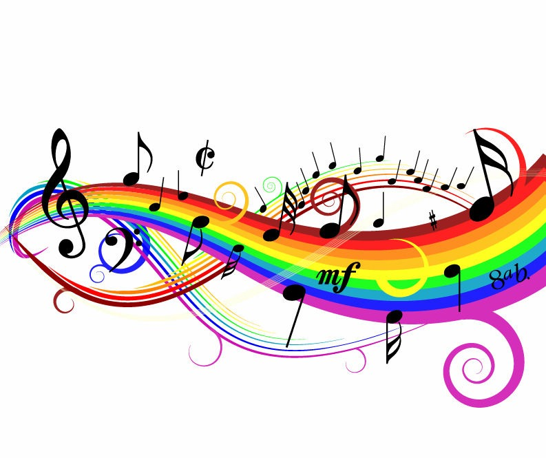 Name Colorful Music Background Vector Illustration