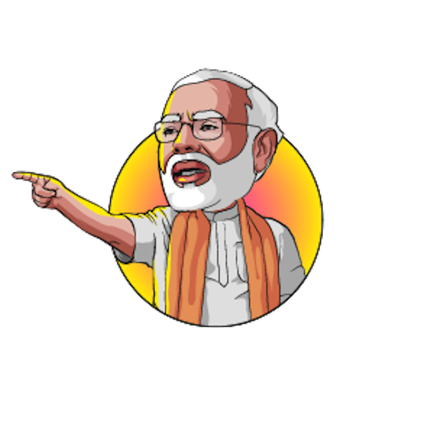 Narendra Modi Stickers Messages Sticker--Narendra Modi Stickers messages sticker-7-6