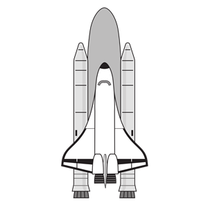 NASA Space Shuttle clipart, .