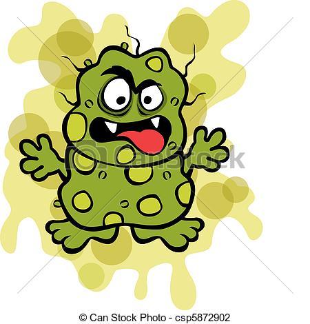 ... Nasty Germ Microbe - Vector Illustra-... Nasty Germ Microbe - Vector Illustration of a yucky germ... Nasty Germ Microbe Clip Artby ...-11