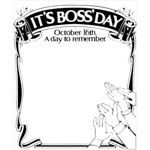 National Bossu0026#39;s Day Clip Arts Free Download