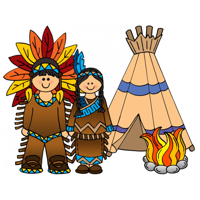 Native american capturea clipart
