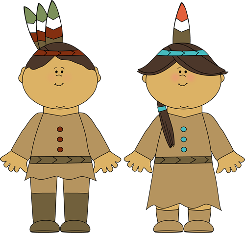 Native American Indian Boy And Girl And -Native American Indian Boy and Girl and Girl-16