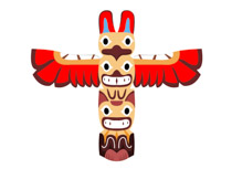 Native American Indian Totem Pole Clipart Size: 69 Kb