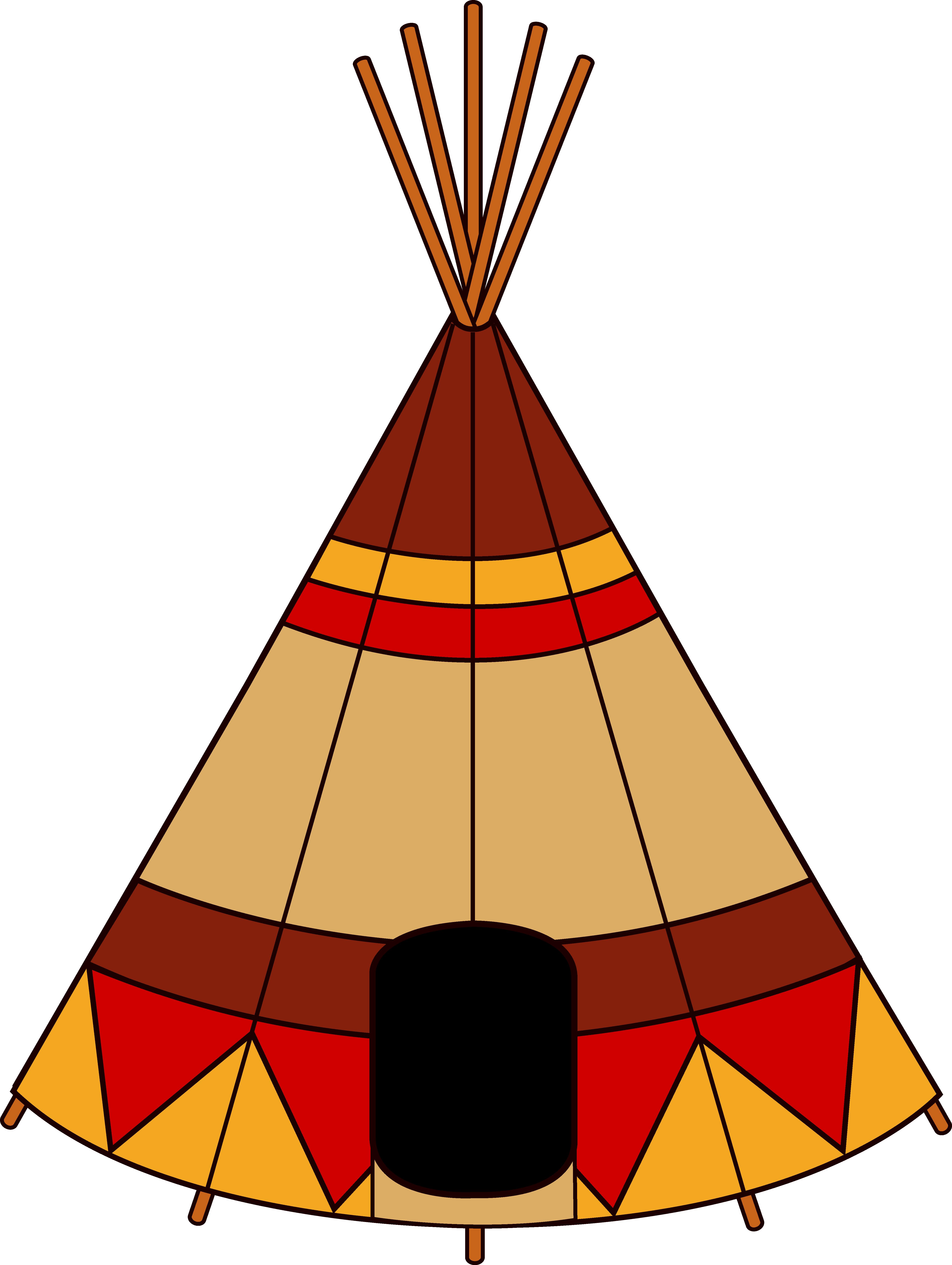 Native American Teepee - Free Clip Art-Native American Teepee - Free Clip Art-15