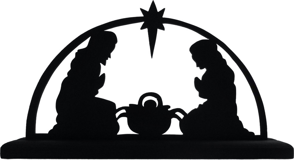 Nativity Angel Silhouette Images Pictures Becuo Clipart