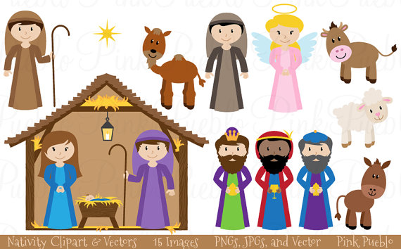 Manger Scene Clipart & Look At Clip Art Images - ClipartLook