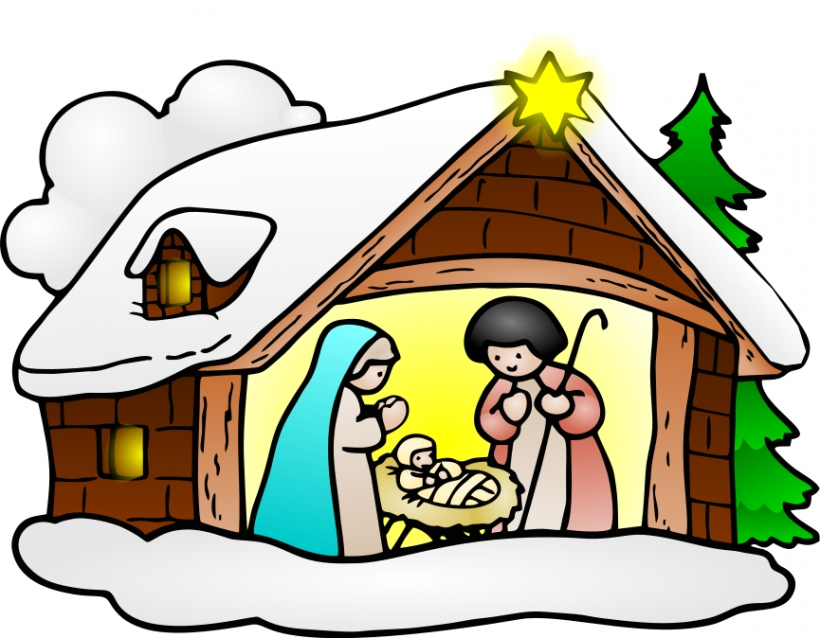 nativity clip art free .
