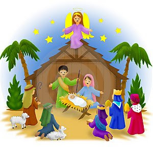 Nativity free christmas clipart manger scene merry christmas