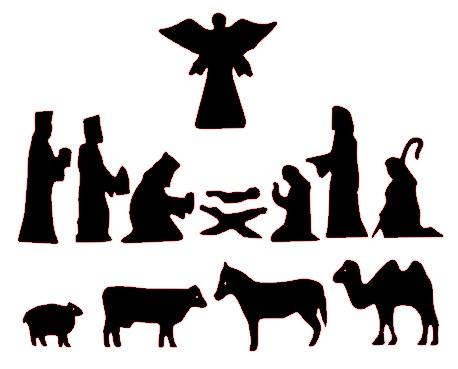 Nativity; Nativity Silhouette Patterns - ClipArt Best .