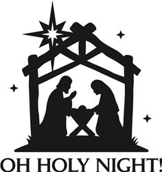 Nativity scene clipart .