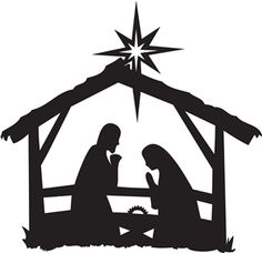 Nativity Scene Silhouette .