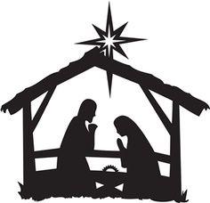 Nativity Scene Silhouette .