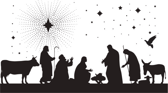 Nativity Scene. vector art .