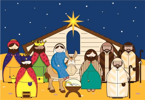 Nativity Scene With Characters .-Nativity Scene with Characters .-17