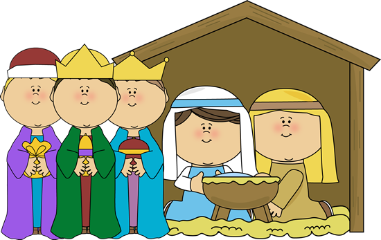 Nativity Scene with Wise Men