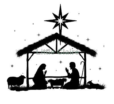 Nativity Silhouette, Christmas .-Nativity silhouette, Christmas .-12
