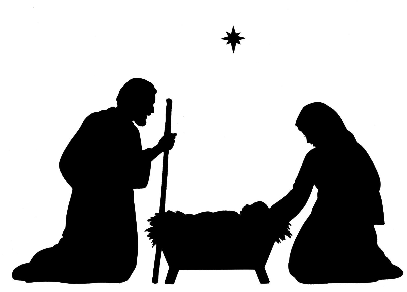 Nativity Silhouette Clip Art New Calendar Template Site