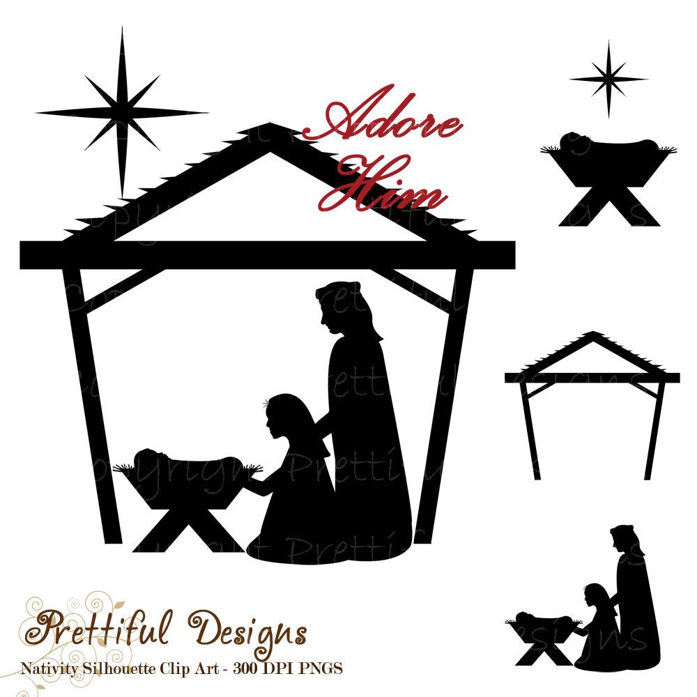 Nativity silhouette free .-Nativity silhouette free .-11