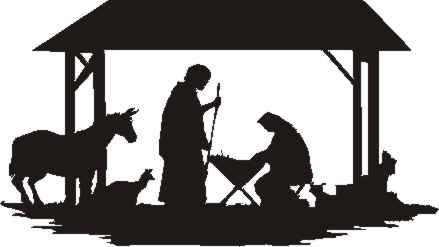 Nativity silhouette free photos of printable nativity silhouettes free clipart