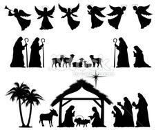 Nativity Silhouette Royalty Free Stock V-Nativity Silhouette Royalty Free Stock Vector Art Illustration-19