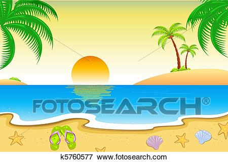 Clip Art - Natural Beach View. Fotosearch - Search Clipart, Illustration  Posters, Drawings