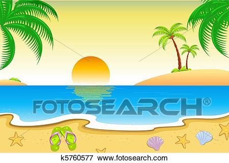 Clip Art - Natural Beach View. Fotosearc-Clip Art - Natural Beach View. Fotosearch - Search Clipart, Illustration  Posters, Drawings-4