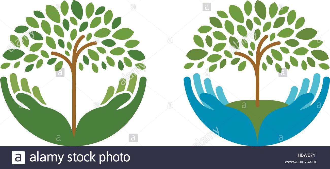 Ecology, Natural Environment Vector Logo-Ecology, natural environment vector logo. Tree, gardening or farming icons-7