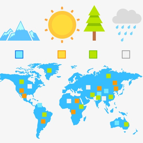 fresh and natural environment, Map, Sun, The Weather PNG Image and Clipart