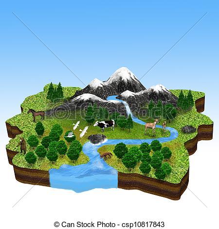 Natural resources, flora and Fauna - csp10817843