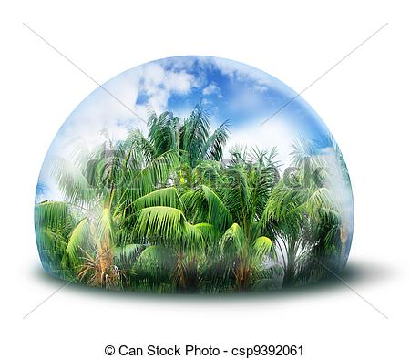 Protect Jungle Natural Environment Conce-Protect jungle natural environment concept - csp9392061-20