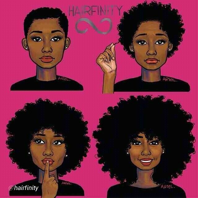 Natural Hair Clip Art | Pinned by Cece Harewood