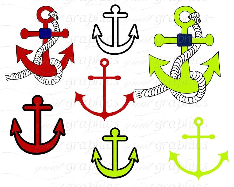 Nautical Clip Art Digital Clip Art Anchor Nautical Flag Clipart