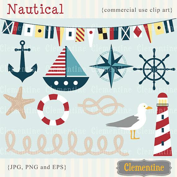 Nautical clip art image .
