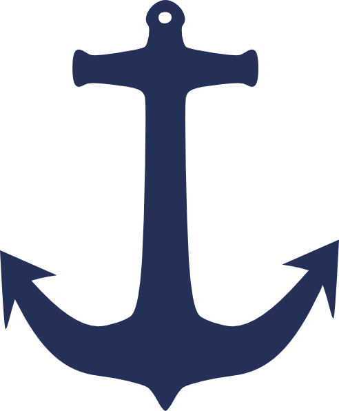 Navy Blue Anchor Clip Art At Clker Com Vector Clip Art Online