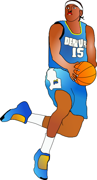 87 Clipart Basketball Player Clipartlook
