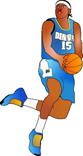 Nba Players Cartoon Basketball Player Clip