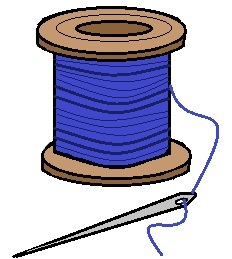 Needle and Thread Clip Art ..