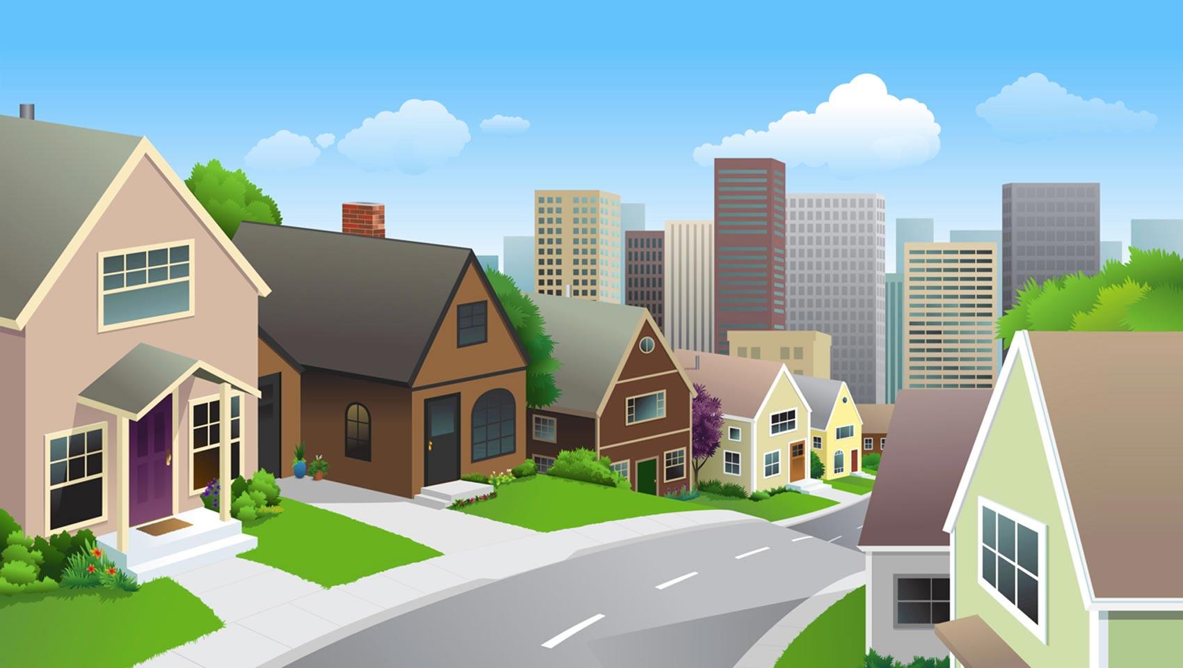 Neighborhood Clipart 1
