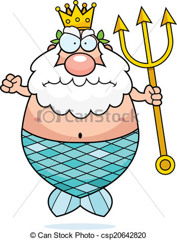Neptune (Poseidon) Clipartby Palych1/771; Angry King Neptune - A cartoon King Neptune with an angry.