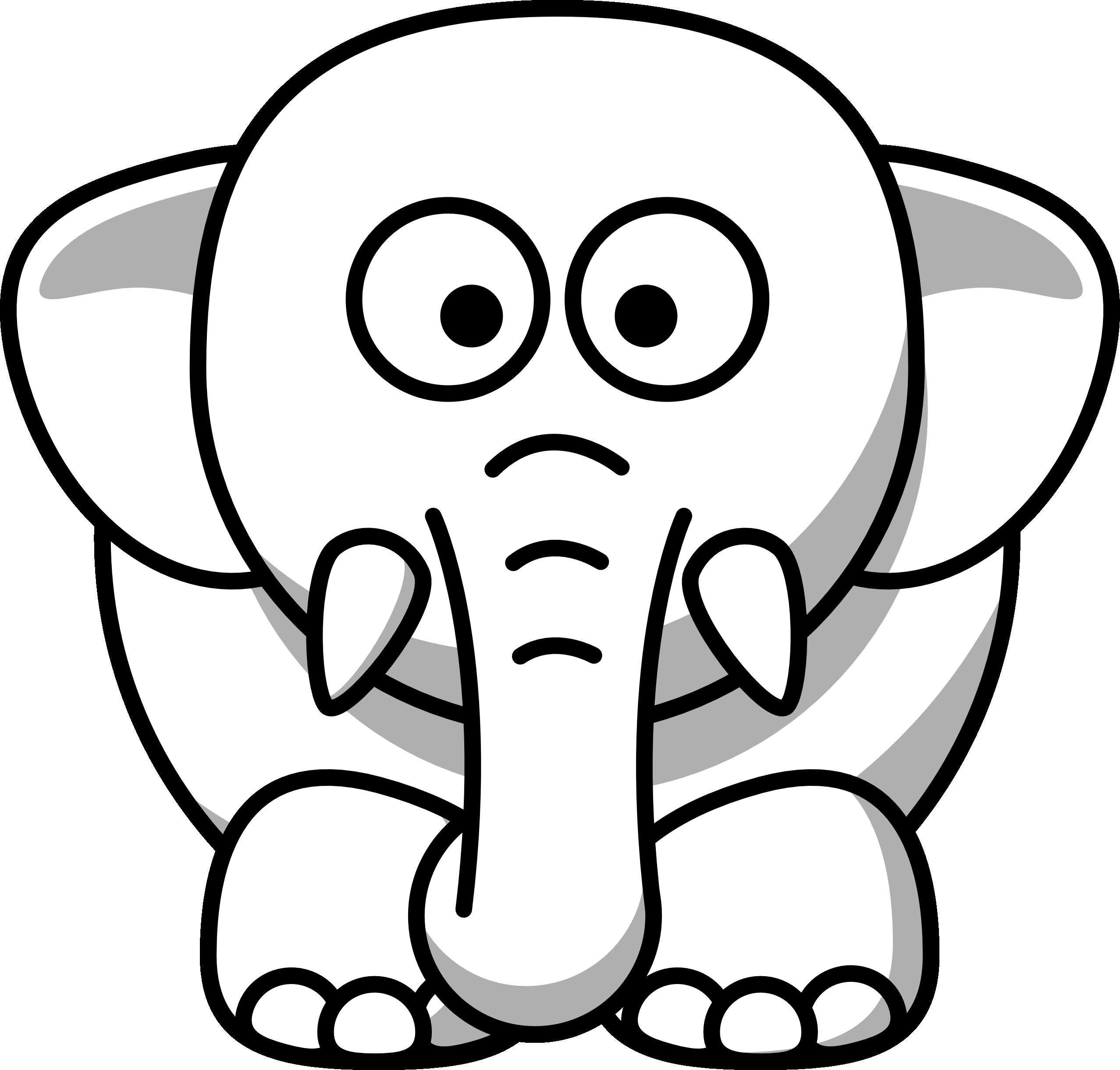Net Clipart Black And White Elephant Cop-Net Clipart Black And White Elephant Copy Black White Line Art-2