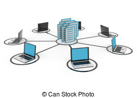 Network Database Stock Illustrationsby R-Network Database Stock Illustrationsby rbhavana7/352; Abstract computer network with laptops and archive or.-16