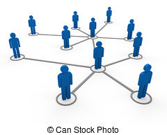 3d blue network team - 3d blue social network community men.